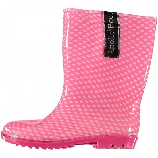 Roze kinder regenlaarzen met hartjes