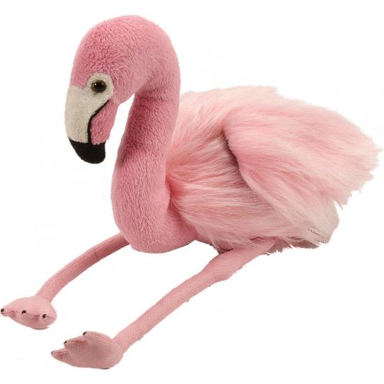 Roze knuffel flamingo 30 cm