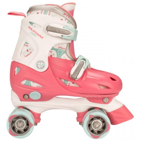 Roze verstelbare rolschaatsen maat 27 30