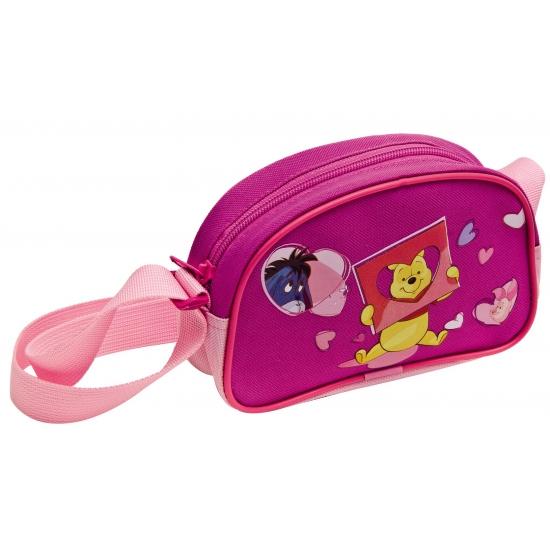 Roze winnie de poeh schoudertas. deze roze schoudertas voor kinderen met vrolijke plaatjes van winnie de poeh ...