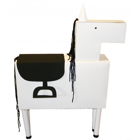 Sinterklaas Wit paard surprise maken pakket 112 cm