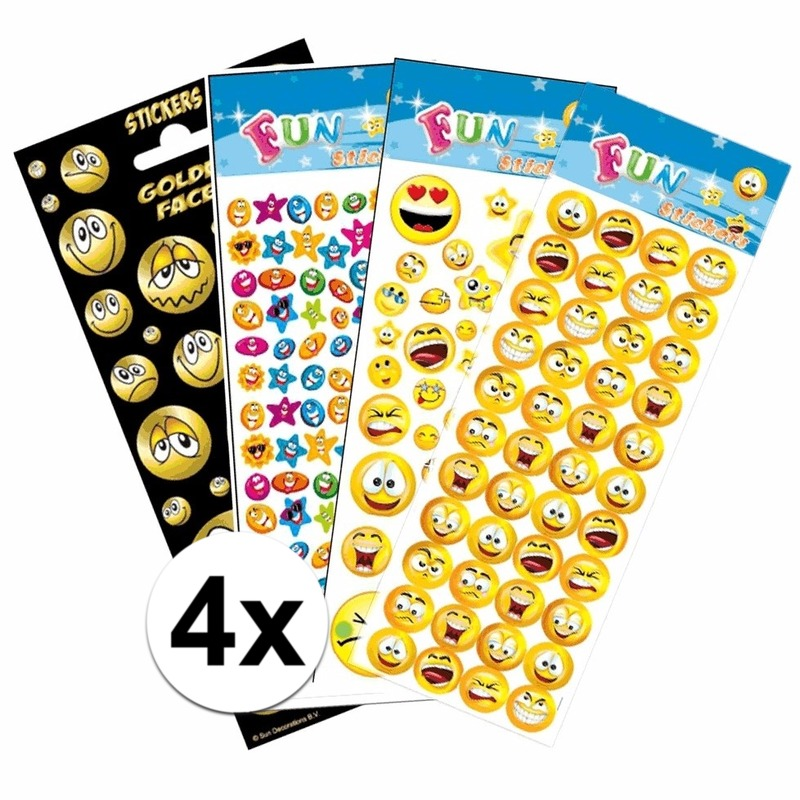 Smiley thema kinder stickers pakket