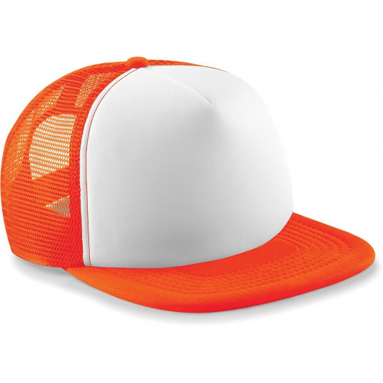Snapback truckers pet oranje