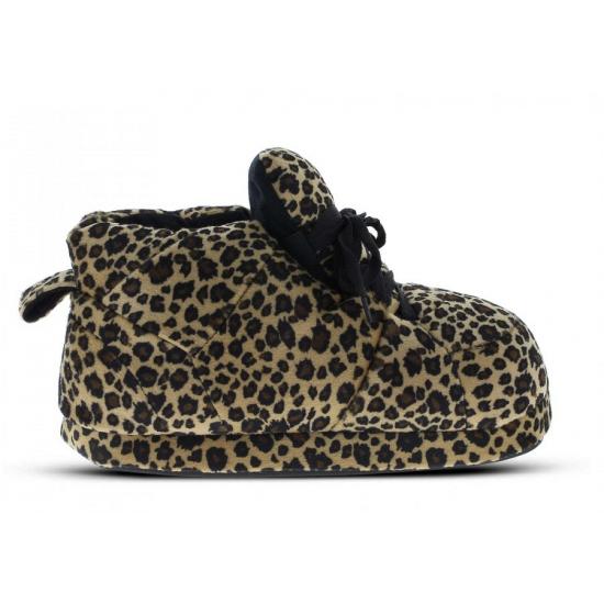 Sneaker sloffen meisjes luipaard bruin