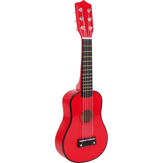 Speelgoed gitaar rood voor kinderen