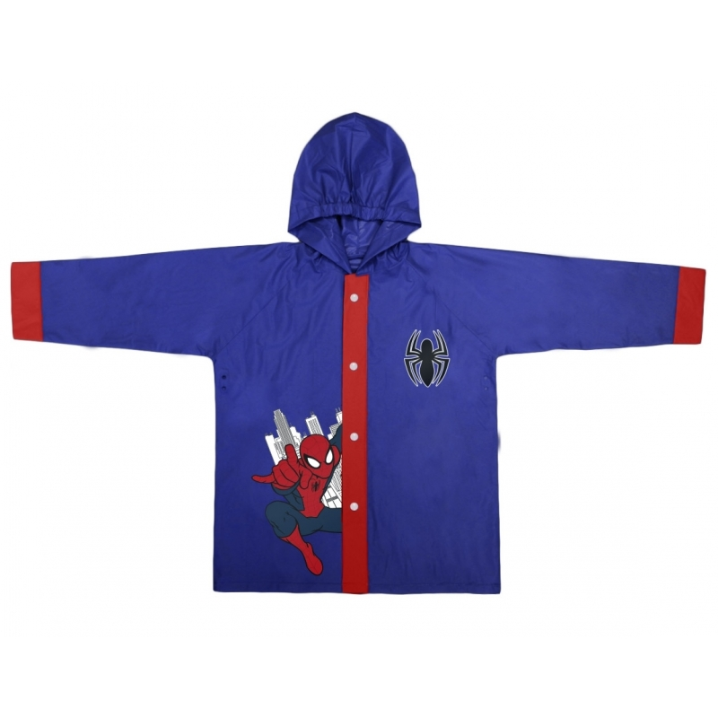 Spiderman regenjas blauw voor jongens