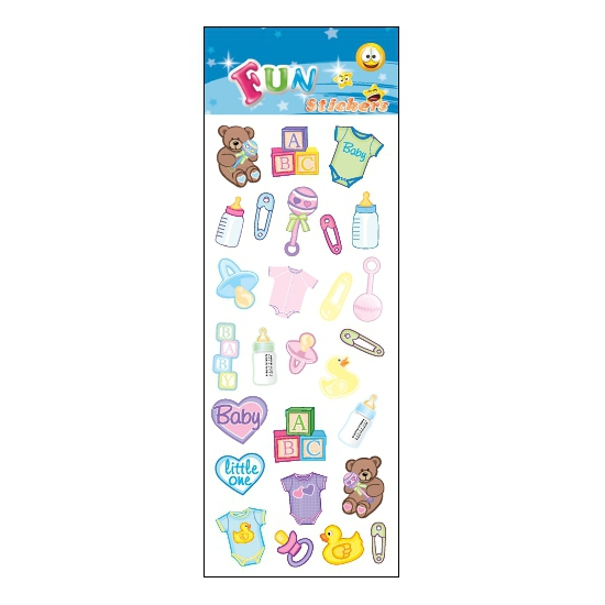 Stickervel babyshower thema