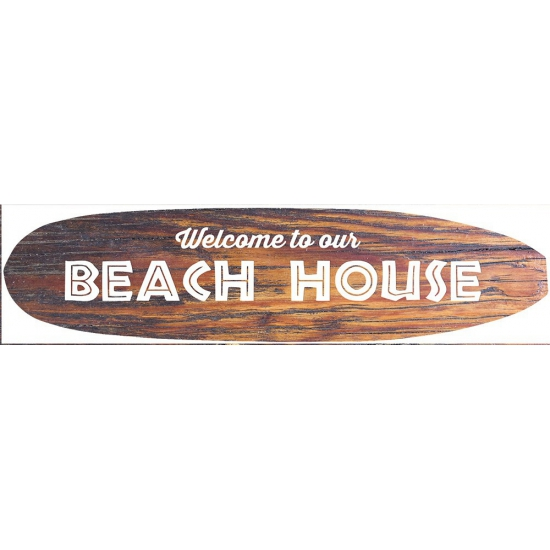 Surfboard muurplaat Beach House