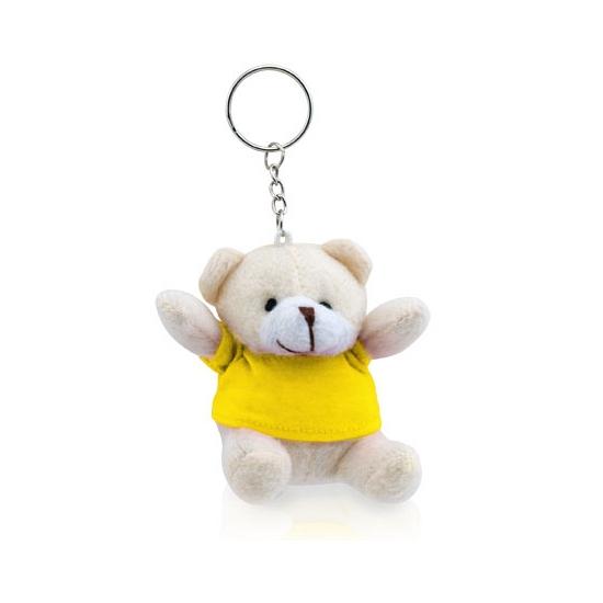 Teddybeer sleutelhanger geel