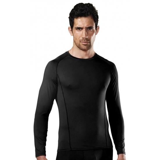 Thermo shirt zwart lange mouw