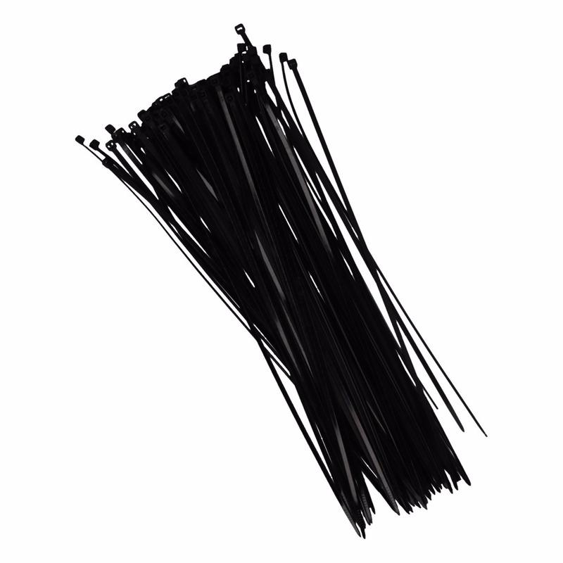 Tie wraps zwart 28 cm 100 stuks
