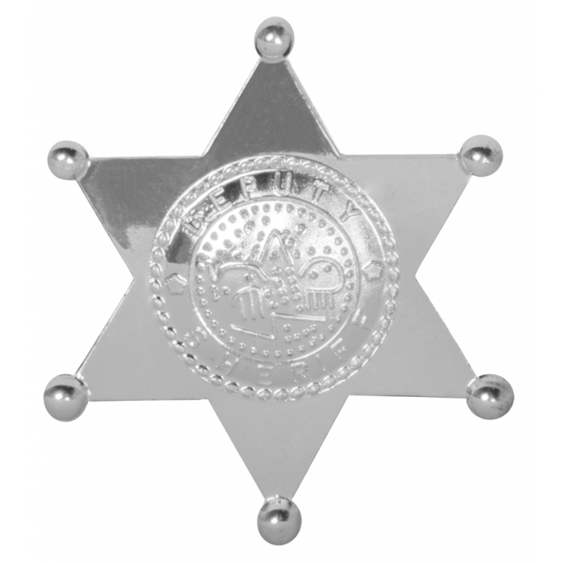Toppers Sheriff badge ster zilver