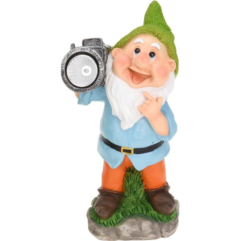 Tuinkabouter met camera 28 cm