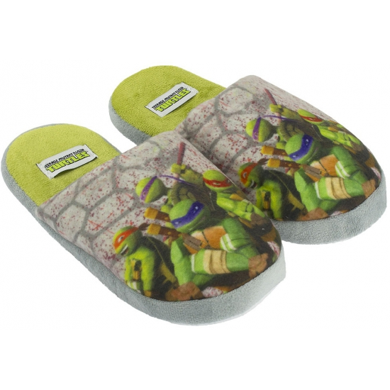 Turtles pantoffels grijs