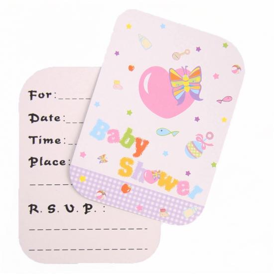 Uitnodigingen Babyshower 8 stuks