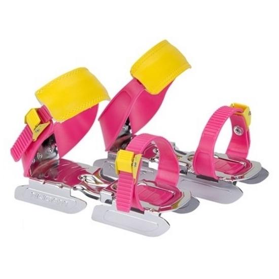 Verstelbare roze/geel kinder schaatsen