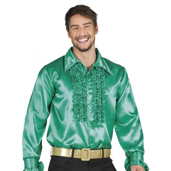 Voordelige groene rouche blouse