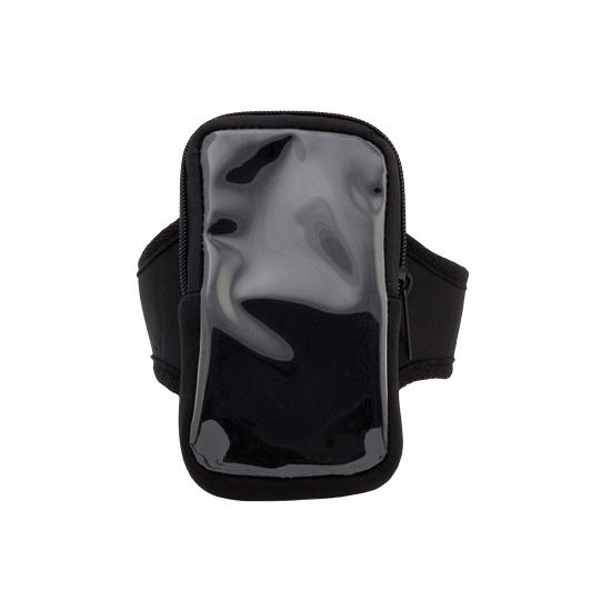 Voordelige smartphone sport armband zwart