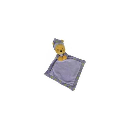 Winnie de Poeh knuffeldoekje paars