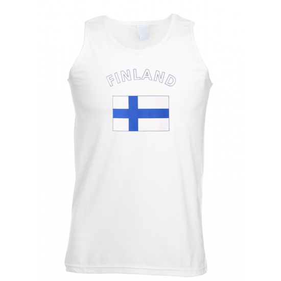 Witte heren tanktop Finland