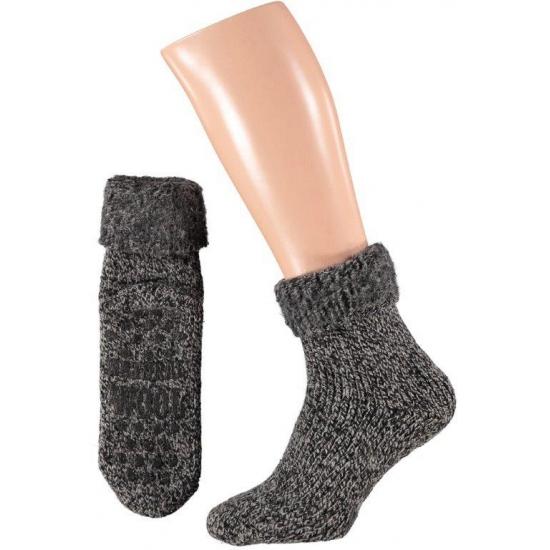 Wollen huis sokken voor mannen zwart