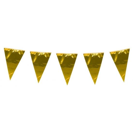 XL vlaggenlijn metallic goud 10 meter
