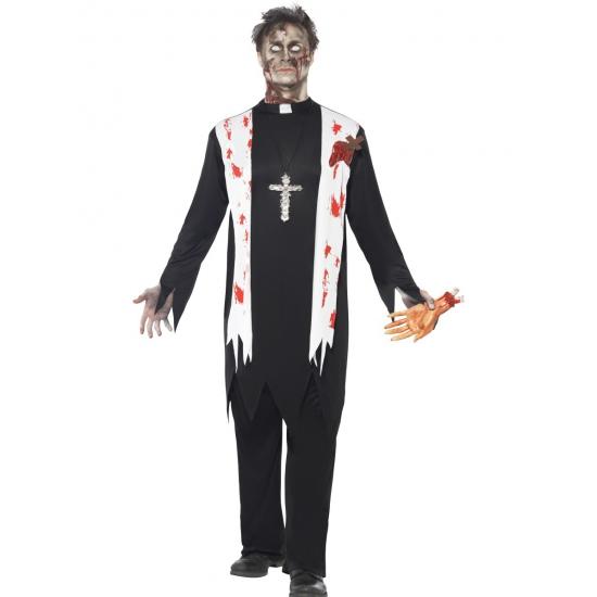 Zombie priester kostuum voor heren
