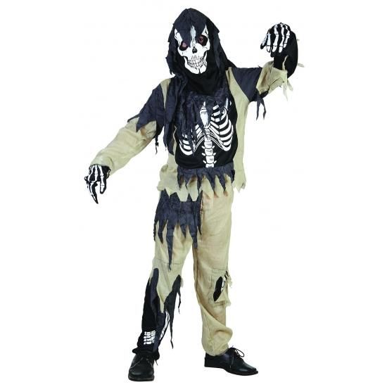 Zombie skelet pak voor kinderen