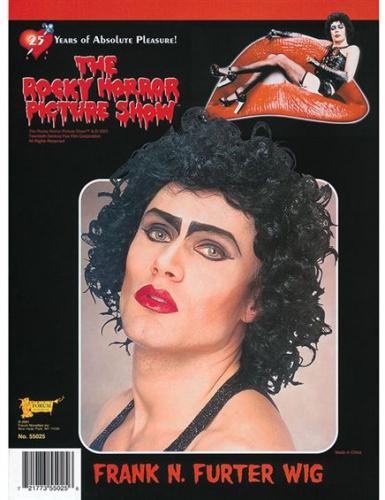 Zwarte Rocky Horror Picture Show pruik