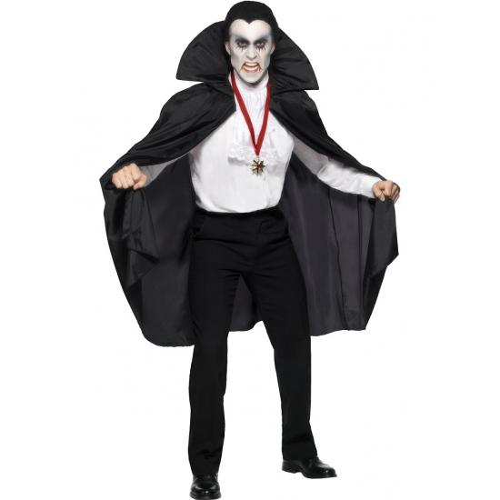 Zwarte vampier cape voor volwassen