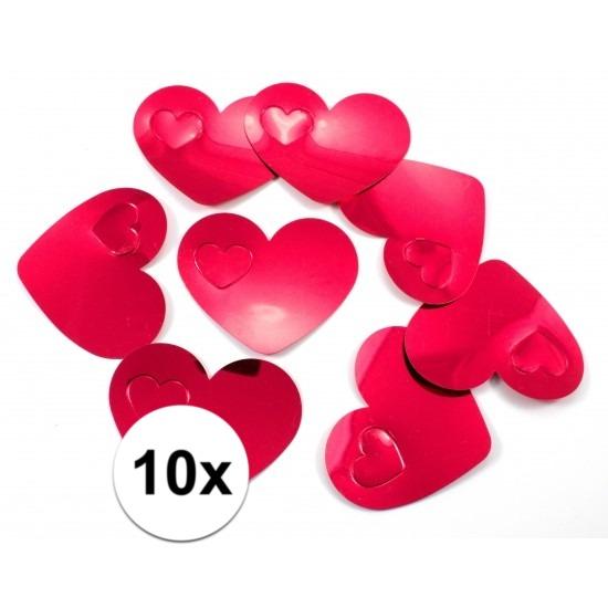 10x mega confetti rode hartjes