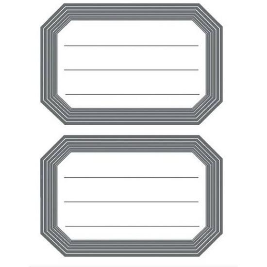12 Schoolboek etiketten wit grijs