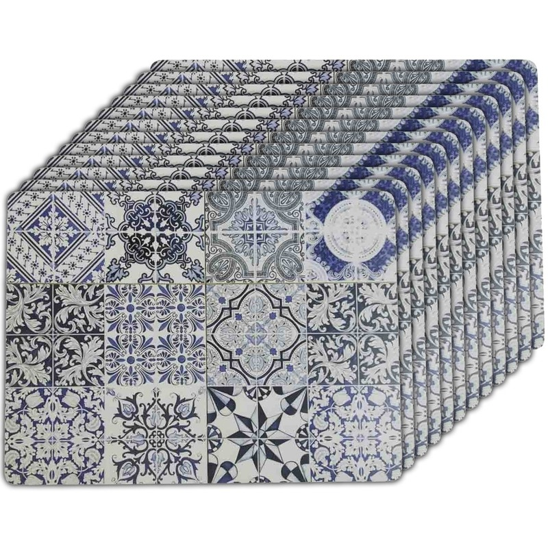 12x Placemats tegels Barcelona 40 x 30 cm