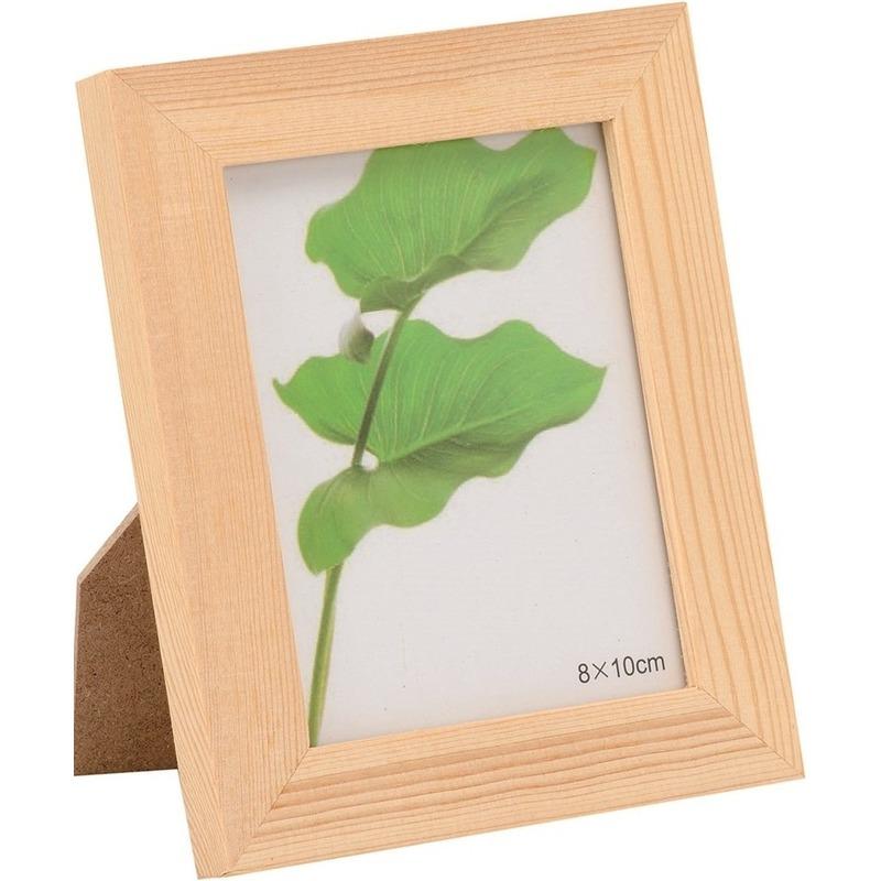 1x Hobby-knutsel DIY houten fotolijstje 14 x 17,5 cm