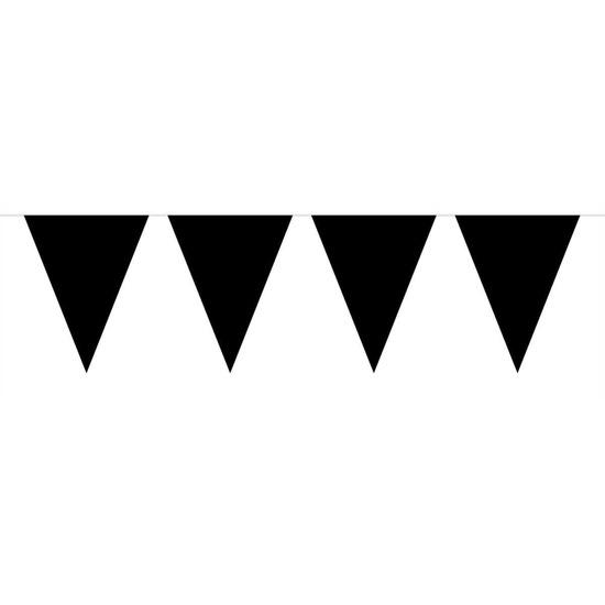 1x Mini vlaggenlijn slinger zwart 300 cm