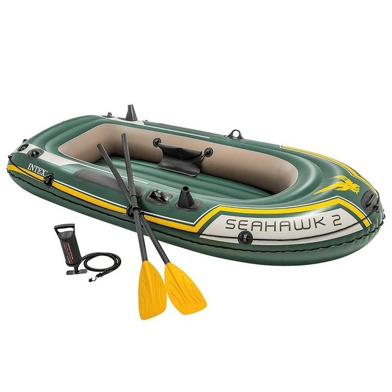 2 Persoons opblaas boot met hengelhouders en peddels 236 cm