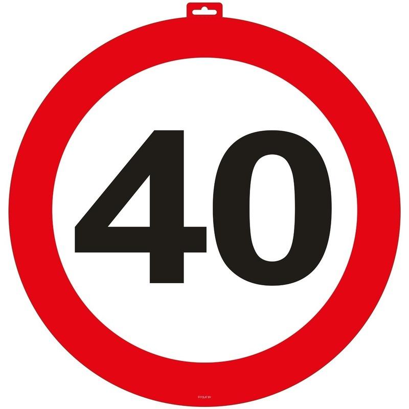 40 Jaar verkeersbord deurborden 47 cm van karton