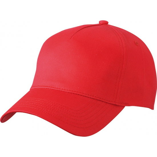5 panel baseball pet rood