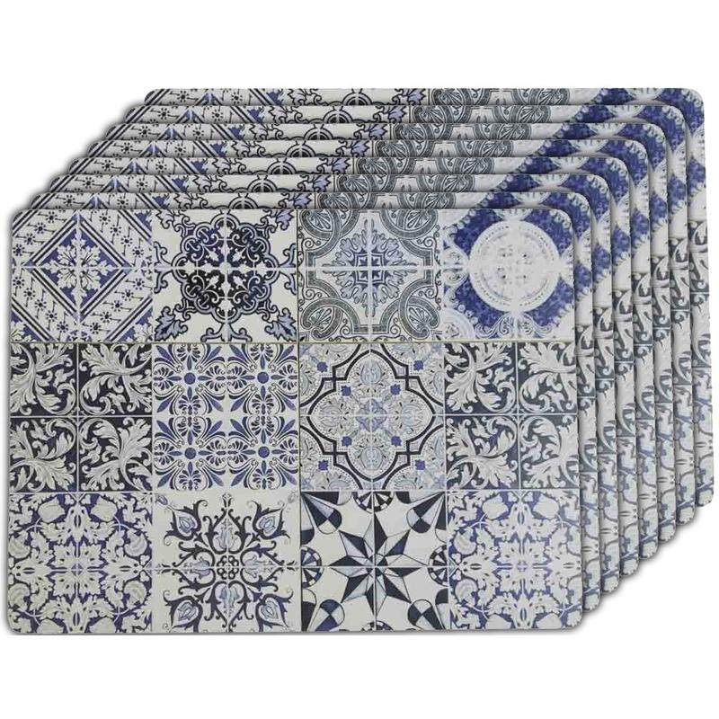 8x Placemats tegels Barcelona 40 x 30 cm