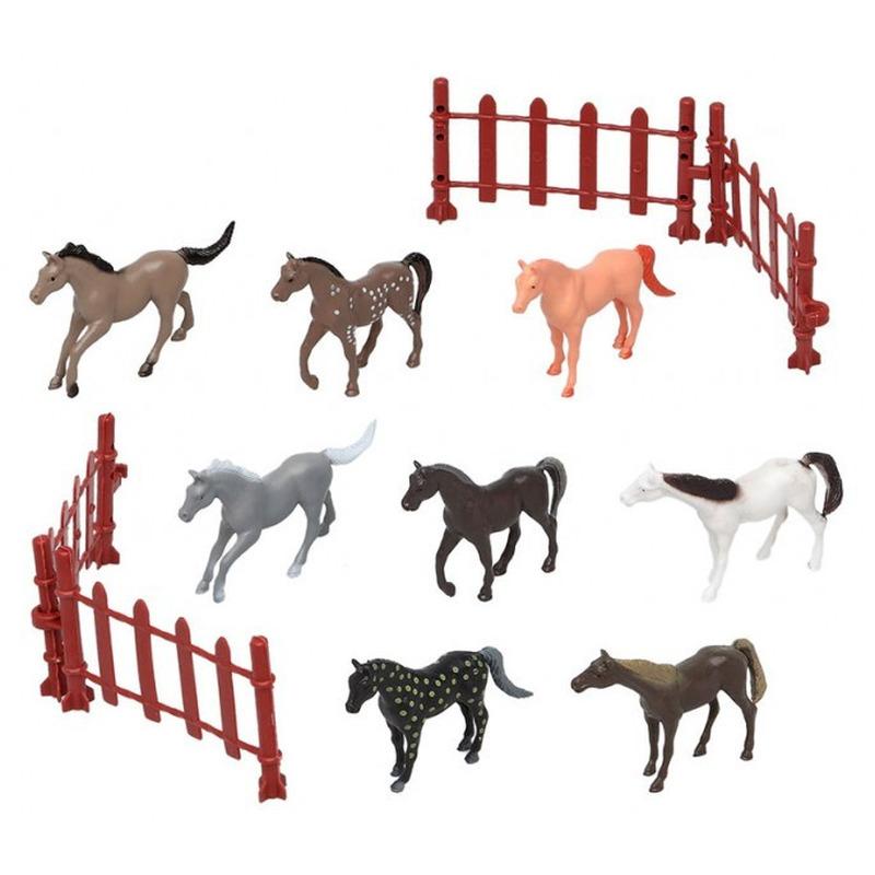 8x Plastic paarden speelgoed figuren voor kinderen