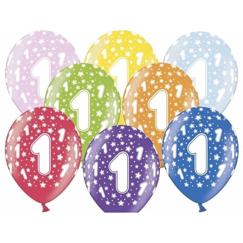 Ballonnen 1 met sterretjes 6x