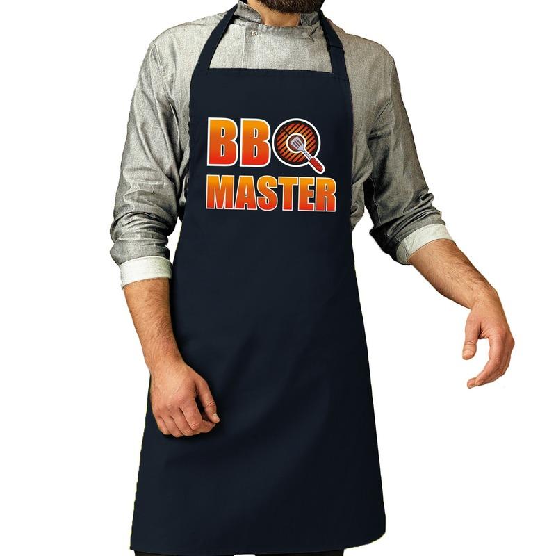 BBQ Master barbeque schort - keukenschort navy voor heren