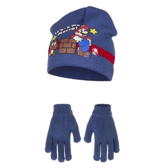 Blauwe Its Mario winterset voor kinderen