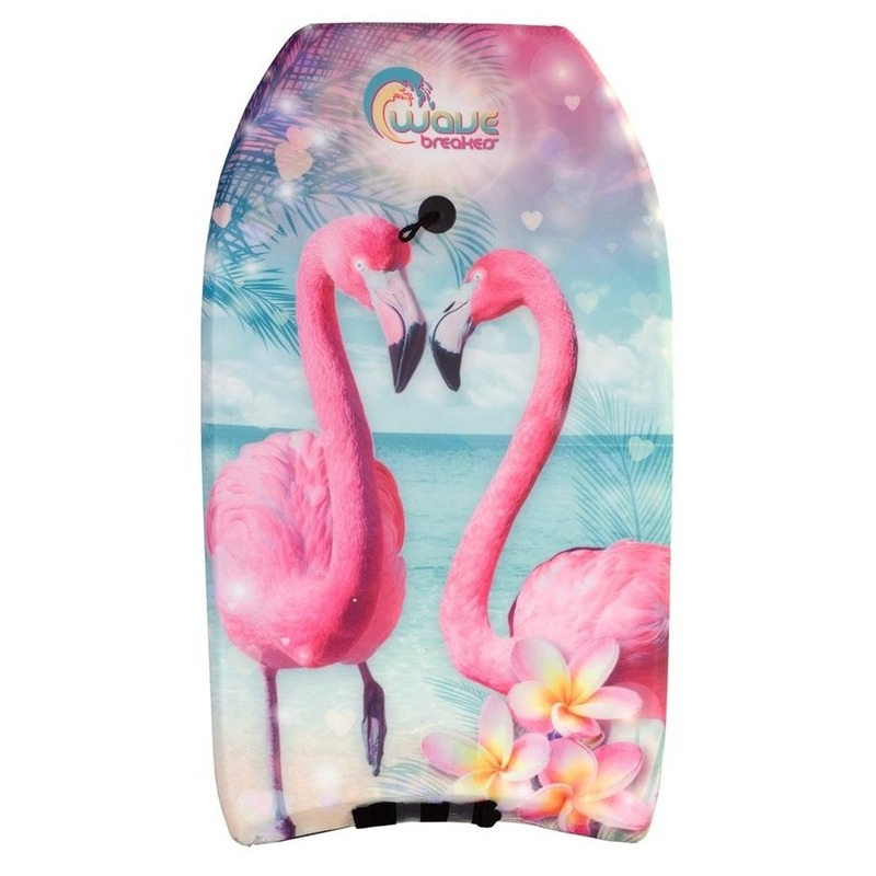 Bodyboard flamingo vogel print 83 cm