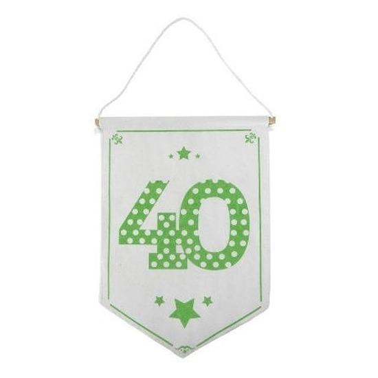 Decoratie vlaggetje vaantje 40 jaar
