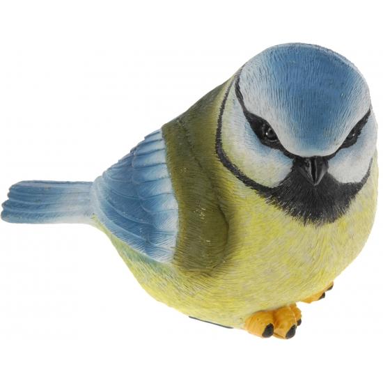 Decoratie vogeltje Pimpelmees 17 cm