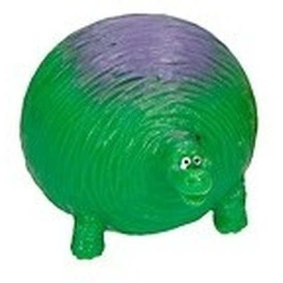 Dino World splash figuurtje groen paars 5 cm