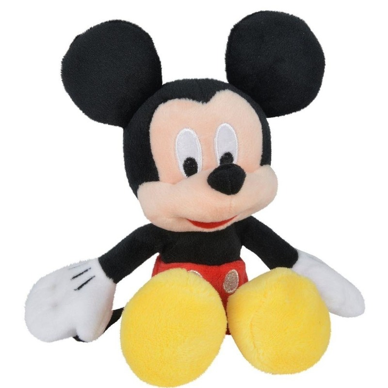 Disney pluche Mickey Mouse knuffel 20 cm