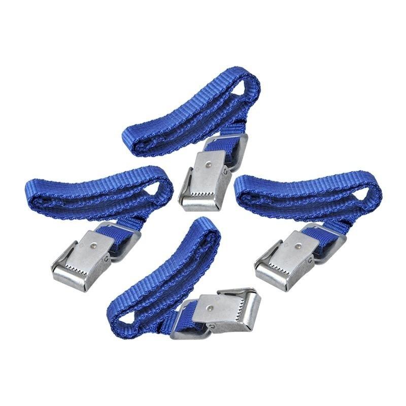 Fiets spanbanden met metalen gesp voor fietsdrager 4 stuks