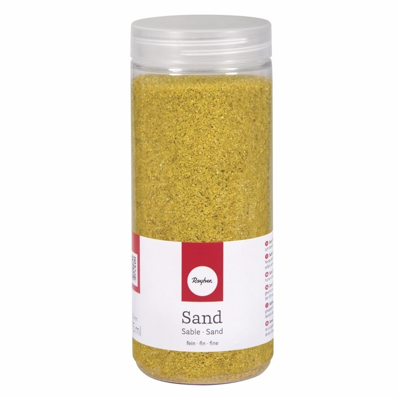 Fijn decoratie zand geel